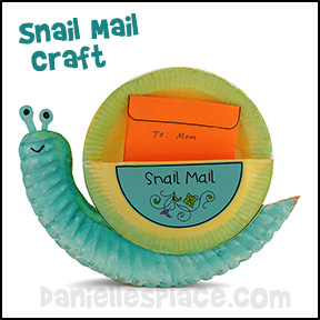 Snail Mail Paper Plate Craft for Kids from www.daniellesplace.com