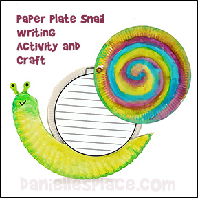 Paper Plate Snail Craft And Writing From Sheet Danielllesplace
