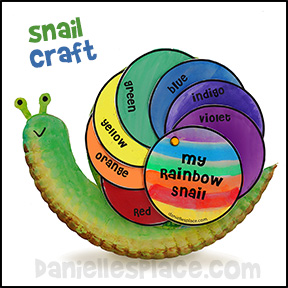 Rainbow Snail Paper Plate Craft from www.daniellesplace.com