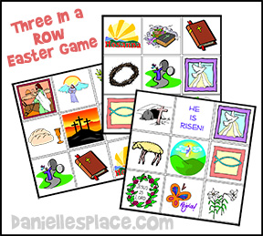 Easter Game - Three in a Row Easter Bible Game from www.daniellesplace.com