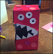 Monster Valentine Box Craft 9 from www.daniellesplace.com
