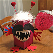 Monster Valentine Box Craft 4 from www.daniellesplace.com