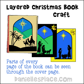 Layered Christmas Book Craft for Sunday School from www.daniellesplace.com