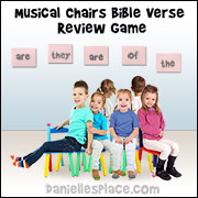 Musical Chairs Bible Verse Review Game