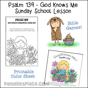 "Psalm 139 - ""God Knows Me"" Bible Lesson for Children"