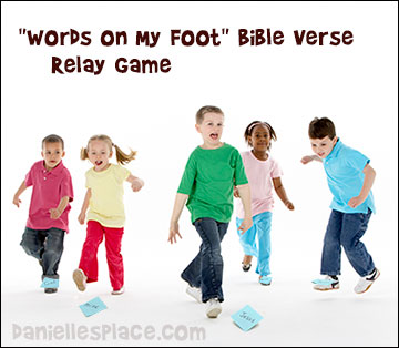 Bible Verse Relay Game for Sunday School and Children's Ministry from www.daniellesplace.com