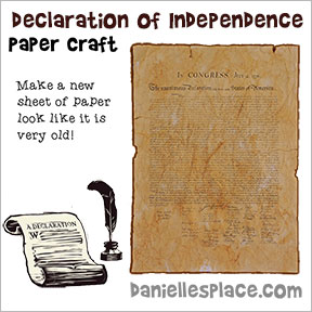 declaration of independence paper craft