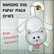 Hanging Cat Paper Plate Craft from www.daniellesplace.com