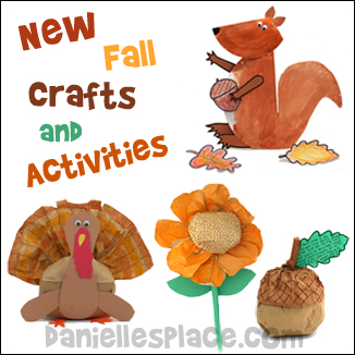 New Fall Crafts for Kids on www.daniellesplace.com