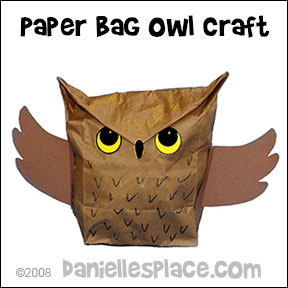 Owl crafts and learning activities for kids for Brown paper bag crafts for preschoolers