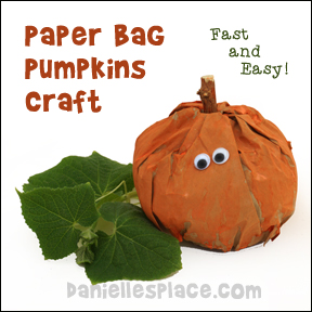 Paper Bag Pumpkins Craft For Kids
