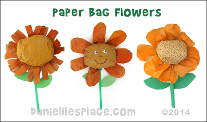 Lunch Bag Flowers Craft for Children