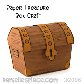 Paper Treasure Chest Craft for VBS from www.daniellesplace.com