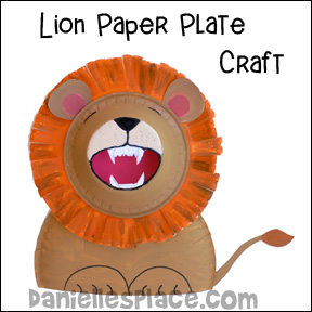 Roaring Lion Paper Plate and Bowl Craft from www.daniellesplace.com