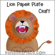 lion paper plate craf from www.daniellesplace.com