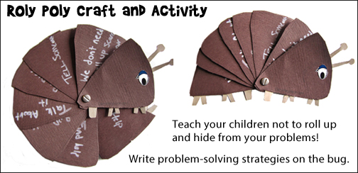 Roly Poly Craft and Learning Activity for home school from www.daniellesplace.com