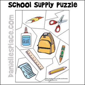 School Suppy Puzzle from www.daniellesplace.com