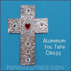 Silver Duct Tape Cross Craft from www.daniellesplace.com