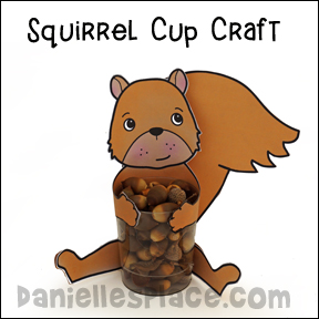 Squirrel Cup Craft and Learning Activities from www.daniellesplace.com