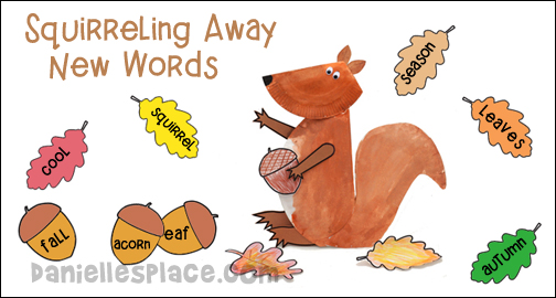 Squirreling Away New Word Bulletin Board Display for Home school from www.daniellesplace.com
