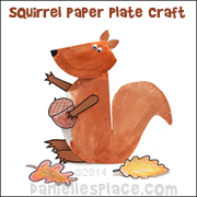 Paper Plate Squirrel Craft from www.daniellesplace.com