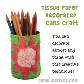 Tissue Paper Can Craft