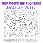 God Keeps His Promise - Activity Sheet from www.daniellesplace.com