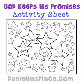 Worksheet Sunday School Worksheets For Kids bible crafts and games for children abraham his descendants god keeps promises activity sheet sunday school from www daniellesplace