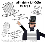 Abraham Lincoln Crafts and Learning Activities from www.daniellesplace.com