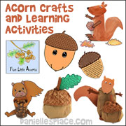 Acorn Crafts and Learning Activities from www.daniellesplace.com