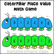 Caterpillar Place Value Math Game