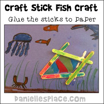 Craft Stick Fish Craft from www.daniellesplace.com
