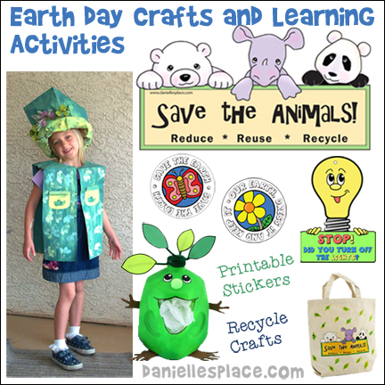 Earth Day Crafts and Activities from www.daniellesplace.com - You'll find lots of Earth Day crafts here that kids can make.