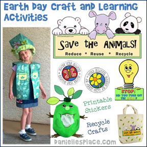 Earth Day Crafts and Projects for Kids from www.daniellesplace.com