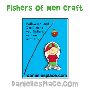 Fishers of Men Bible Craft for Sunday School from www.daniellesplace.com