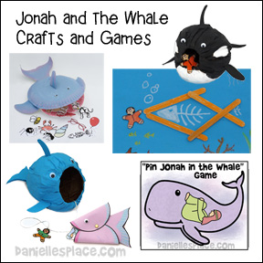 Jonah and Whale Bible Crafts for Sunday School from www.daniellesplace.com - copyright 2012