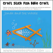 Jonah and the Whale Craft Stick Craft