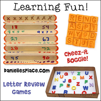 Back-to-school Learning Fun, Games, and Activities from www.daniellesplace.com