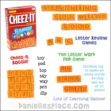 Cheez-it Crackers Word and Letter Review Games for Home School from www.daniellesplace. Great preparation for back to school!