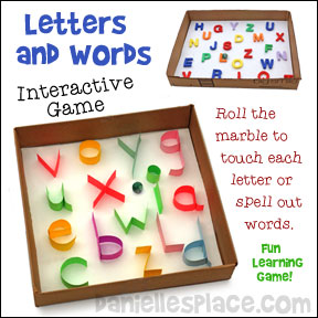 Review letters, spelling words, and vocabulary words with this fun, easy-to-prepare, inteactive marble game from www.daniellesplace.com