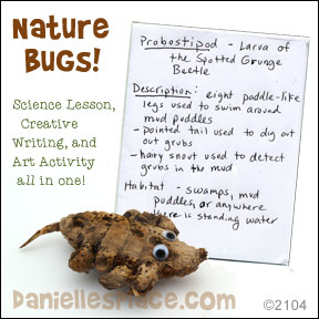 Nature Bug - Science, Creative Writing, and Art Activity for Home School from www.daniellesplace.com