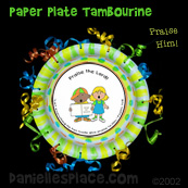 Praise Him Paper Plate Tambourine Bible Craft for Sunday School from www.daniellesplace.com