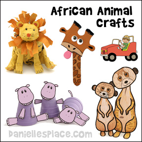 African Animal Crafts and Learning Activities for Children
