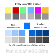 Tints and Shade Activity Sheet
