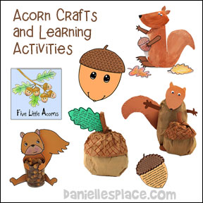 Acron Crafts and Learning Activities for Children from www.daniellesplace.com