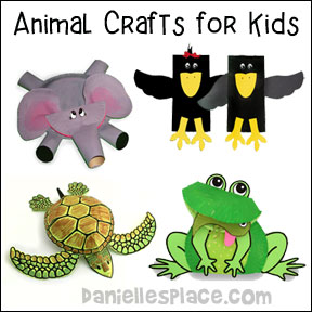 Animal crafts for kids from www.daniellesplace.com