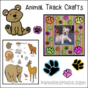 Animal Track Crafts for Kids from www.daniellesplace.com