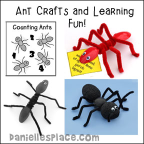 Ant Crafts and Learning Activities for Kids from www.daniellesplace.com