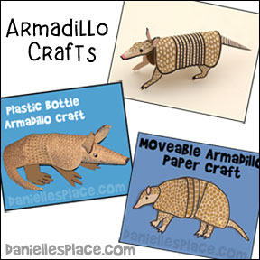Armadillo Crafts and Learning Activities from www.daniellesplace.com