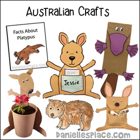 Australian Crafts and Learning Activities from www.daniellesplace.com